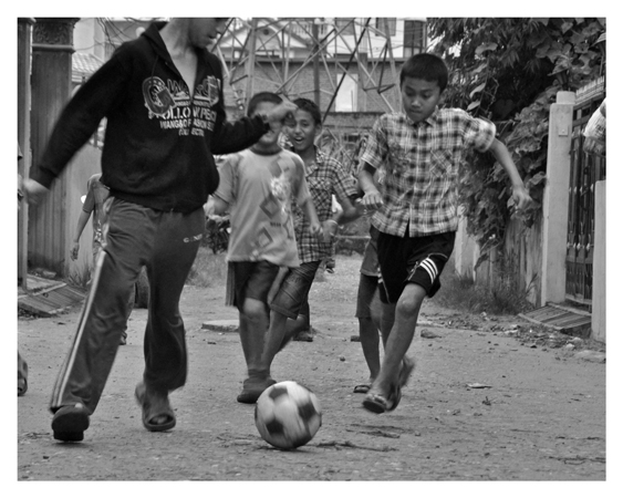 LETS PLAY FOOTBALL (CHILDREN FROM KATHMANDU)