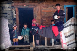 Photo: Local Family from Langtang Valley
